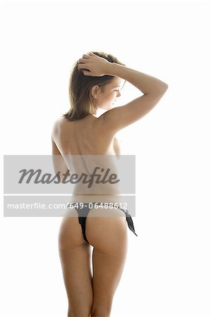 Nude woman wearing underwear Stock Photo - Premium Royalty-Free, Image code: 649-06488612