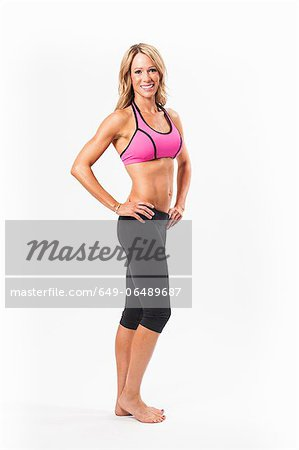 Woman wearing exercise clothes Stock Photo - Premium Royalty-Free, Image code: 649-06489687