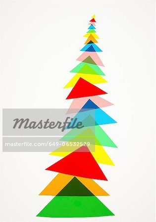 Illustration of colorful triangles Stock Photo - Premium Royalty-Free, Image code: 649-06532529