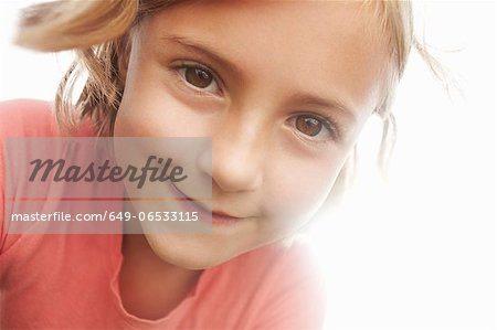 Close up of girls smiling face Stock Photo - Premium Royalty-Free, Image code: 649-06533115