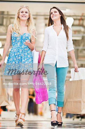 Women shopping together in mall Stock Photo - Premium Royalty-Free, Image code: 649-06622218