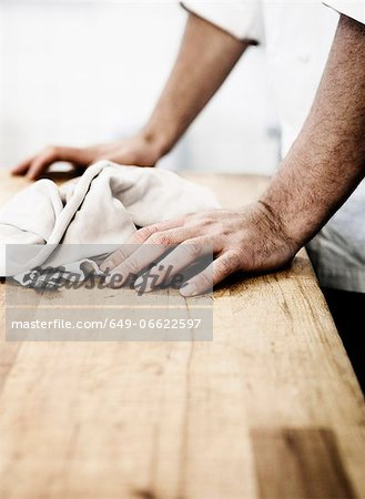 Man resting on wooden board Stock Photo - Premium Royalty-Free, Image code: 649-06622597