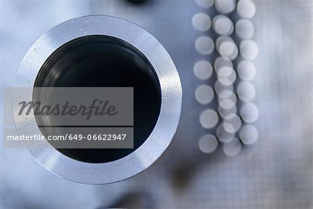 Close up of metal pipe Stock Photo - Premium Royalty-Free, Image code: 649-06622947