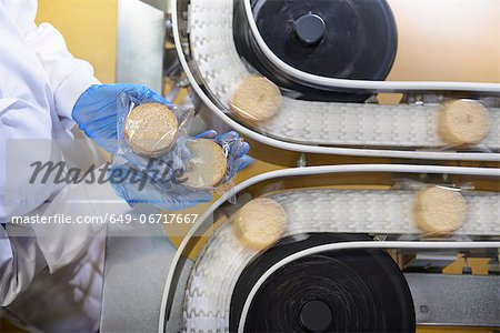 Worker checking production line in factory Stock Photo - Premium Royalty-Free, Image code: 649-06717667