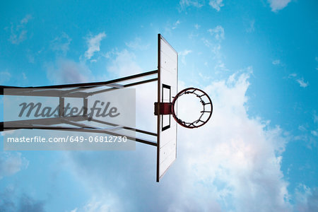 Basketball hoop, low angle Stock Photo - Premium Royalty-Free, Image code: 649-06812730