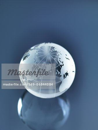Glass Globe illustrating North America, Europe, Russia and Africa Stock Photo - Premium Royalty-Free, Image code: 649-06844084