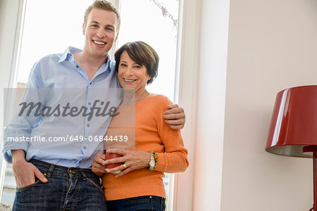 Portrait of mother with grown up son Stock Photo - Premium Royalty-Free, Image code: 649-06844439