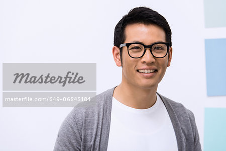Close up portrait of young male designer Stock Photo - Premium Royalty-Free, Image code: 649-06845184