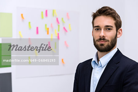 Portrait of young man in design studio Stock Photo - Premium Royalty-Free, Image code: 649-06845193