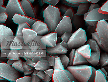 3D SEM image of crystal, 8 degree tilt Stock Photo - Premium Royalty-Free, Image code: 649-07063295