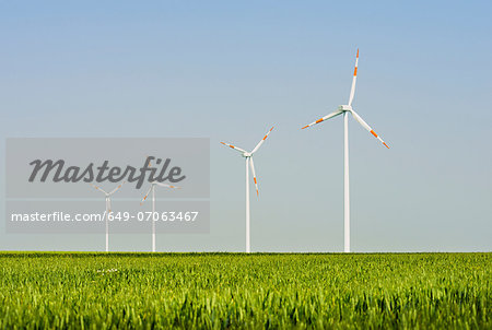 Wind turbines, Selfkant, Germany Stock Photo - Premium Royalty-Free, Image code: 649-07063467