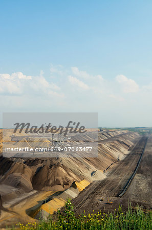 Opencast mine for brown coal, Juchen, Germany Stock Photo - Premium Royalty-Free, Image code: 649-07063477