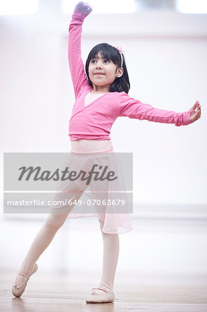 Young ballerina in pose Stock Photo - Premium Royalty-Free, Image code: 649-07063679