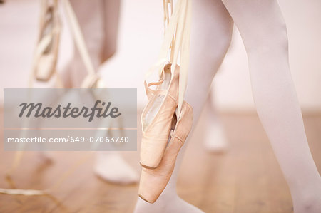 Detail of ballerinas legs leaving dance studio Stock Photo - Premium Royalty-Free, Image code: 649-07063730