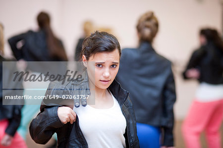 Teenagers dancing hip hop in studio Stock Photo - Premium Royalty-Free, Image code: 649-07063757