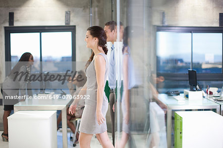 Workers in city office Stock Photo - Premium Royalty-Free, Image code: 649-07063922