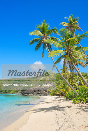 Tropical beach, Yasawa Island Group, Fiji, South Pacific islands Stock Photo - Premium Royalty-Free, Image code: 649-07064657