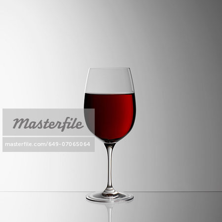 Glass of red wine Stock Photo - Premium Royalty-Free, Image code: 649-07065064