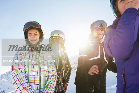 Grandparents and granddaughters, Les Arcs, Haute-Savoie, France Stock Photo - Premium Royalty-Free, Image code: 649-07118128