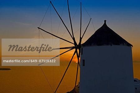 Windmill, Oia, Santorini, Greece