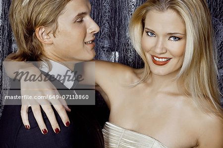Close up of young glamorous couple Stock Photo - Premium Royalty-Free, Image code: 649-07118860