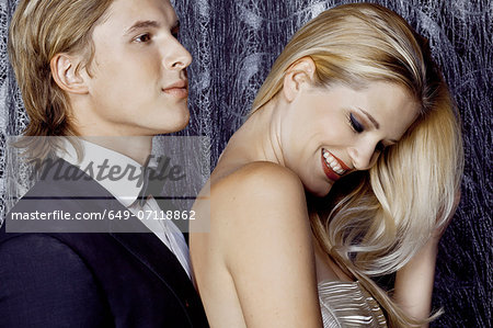 Close up of young couple flirting Stock Photo - Premium Royalty-Free, Image code: 649-07118862