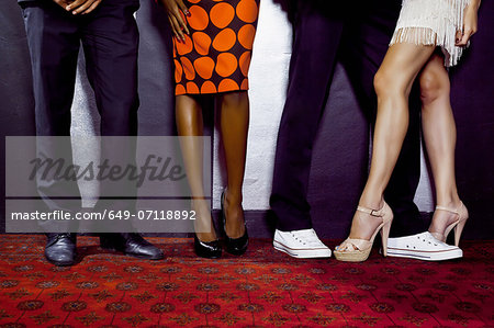 Waist down shot of two couples Stock Photo - Premium Royalty-Free, Image code: 649-07118892