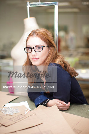 Fashion design student in class Stock Photo - Premium Royalty-Free, Image code: 649-07238368