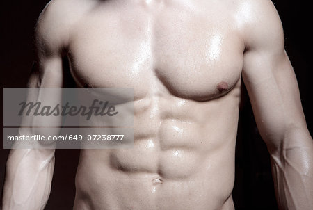 Muscular male torso Stock Photo - Premium Royalty-Free, Image code: 649-07238777