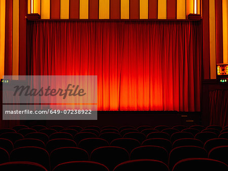 Empty retro cinema Stock Photo - Premium Royalty-Free, Image code: 649-07238922