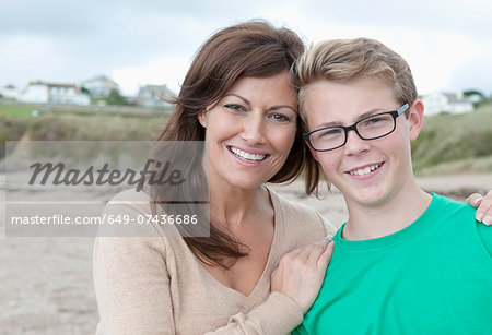 Portrait of mother and teenage son Stock Photo - Premium Royalty-Free, Image code: 649-07436686