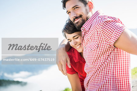 Portrait of young couple, Tyrol, Austria Stock Photo - Premium Royalty-Free, Image code: 649-07437519