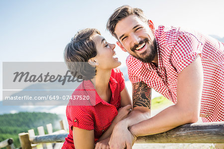 Happy young couple, Tyrol, Austria Stock Photo - Premium Royalty-Free, Image code: 649-07437520