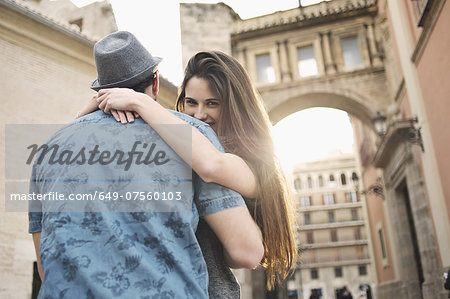 Romantic young couple embracing, Valencia, Spain Stock Photo - Premium Royalty-Free, Image code: 649-07560103