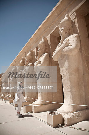 Statues at the Mortuary Temple of Queen Hatshepsut, Egypt Stock Photo - Premium Royalty-Free, Image code: 649-07585374
