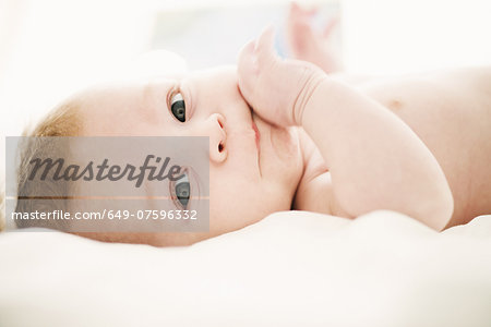 Portrait of baby boy 4 months old Stock Photo - Premium Royalty-Free, Image code: 649-07596332
