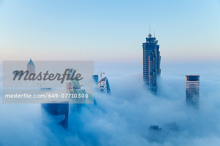 Downtown Dubai at dawn, United Arab Emirates Stock Photo - Premium Royalty-Free, Image code: 649-07710300