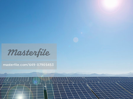 Solar farm, Andalusia, Spain Stock Photo - Premium Royalty-Free, Image code: 649-07905453