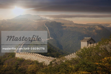 View of The Great Wall at Mutianyu, Bejing, China Stock Photo - Premium Royalty-Free, Image code: 649-08086778