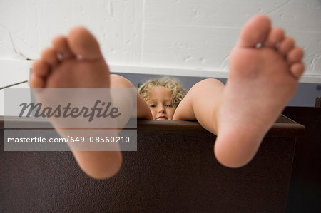 Playful portrait of little girl Stock Photo - Premium Royalty-Free, Image code: 649-08560210