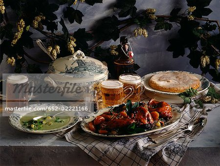 Belgian menu Stock Photo - Premium Royalty-Free, Image code: 652-02221166