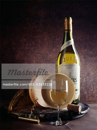 White wine from Jura Stock Photo - Premium Royalty-Free, Image code: 652-03633118