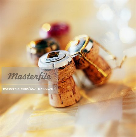 Champagne corks Stock Photo - Premium Royalty-Free, Image code: 652-03633205
