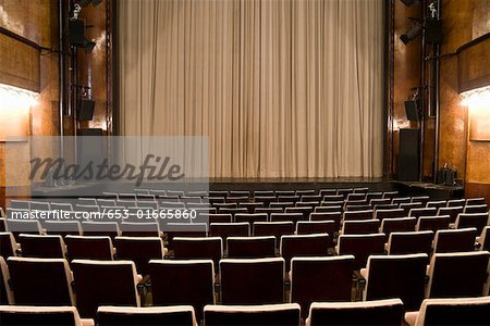 An empty art deco theatre Stock Photo - Premium Royalty-Free, Image code: 653-01665860