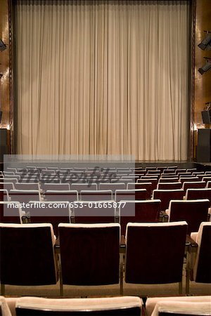 An empty art deco theatre Stock Photo - Premium Royalty-Free, Image code: 653-01665877