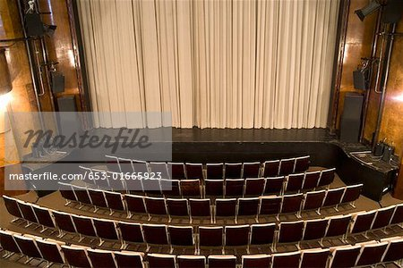 An empty art deco theatre Stock Photo - Premium Royalty-Free, Image code: 653-01665923