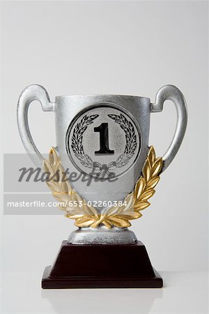First place trophy Stock Photo - Premium Royalty-Free, Image code: 653-02260384
