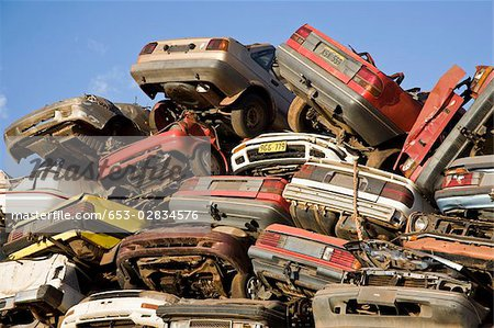 Scrap yard Stock Photo - Premium Royalty-Free, Image code: 653-02834576