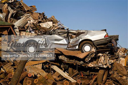 Scrap yard Stock Photo - Premium Royalty-Free, Image code: 653-02834603