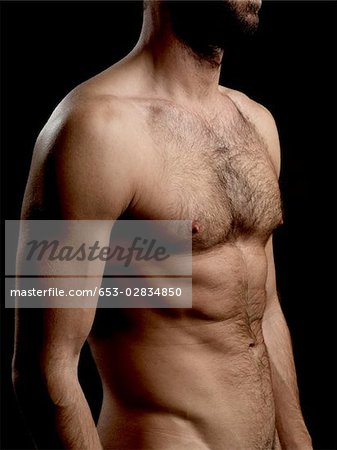 Torso of a shirtless man Stock Photo - Premium Royalty-Free, Image code: 653-02834850